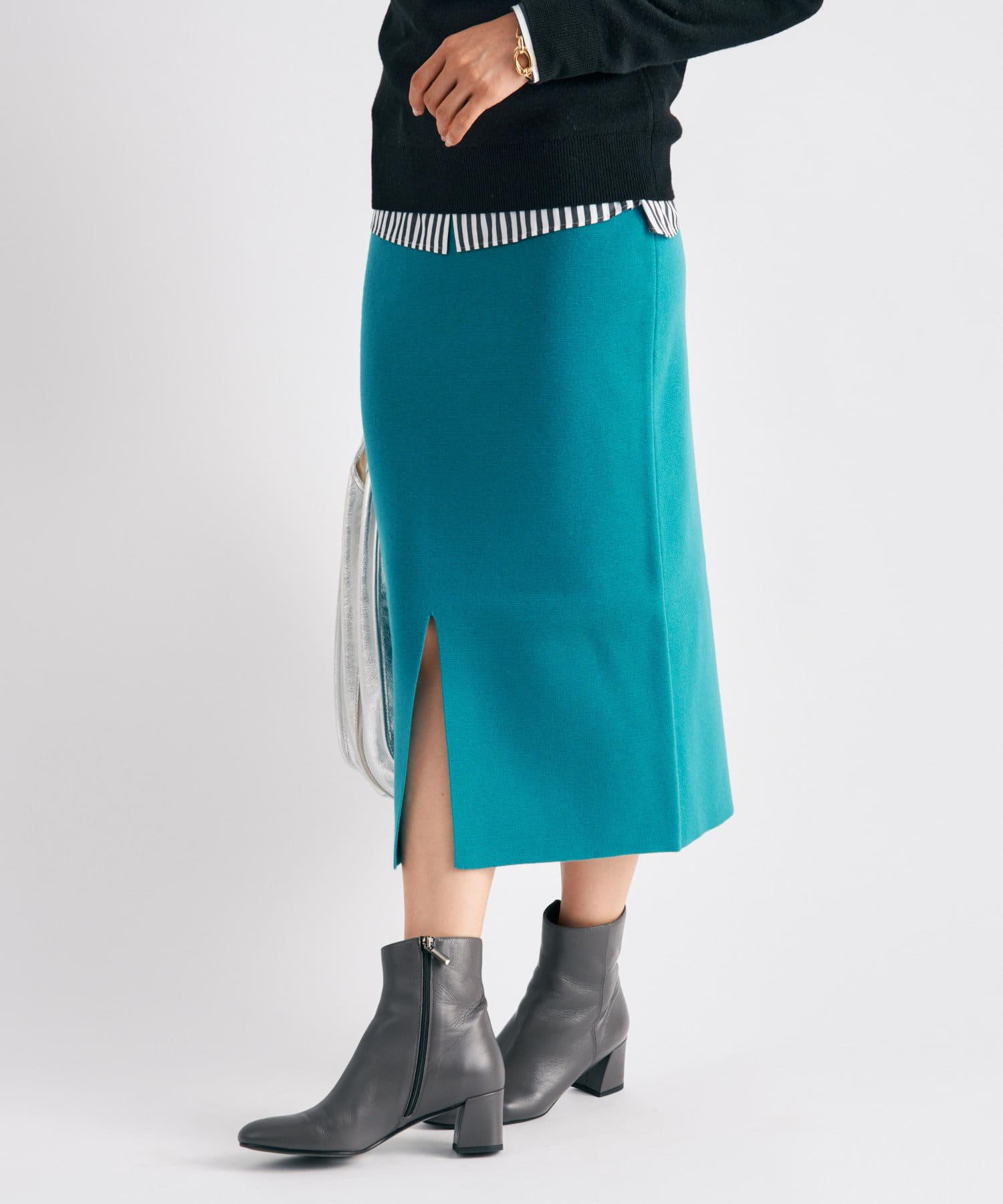 La boutique BonBon(ラブティックボンボン) 《予約》【前スリットでヘルシーな肌見せ・手洗い可】ミラノリブナロースカート