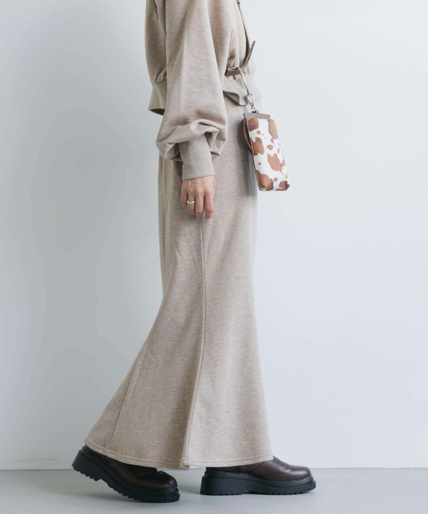 Kastane(カスタネ) 【SETUP対応】カラーMIXスウェットスカート