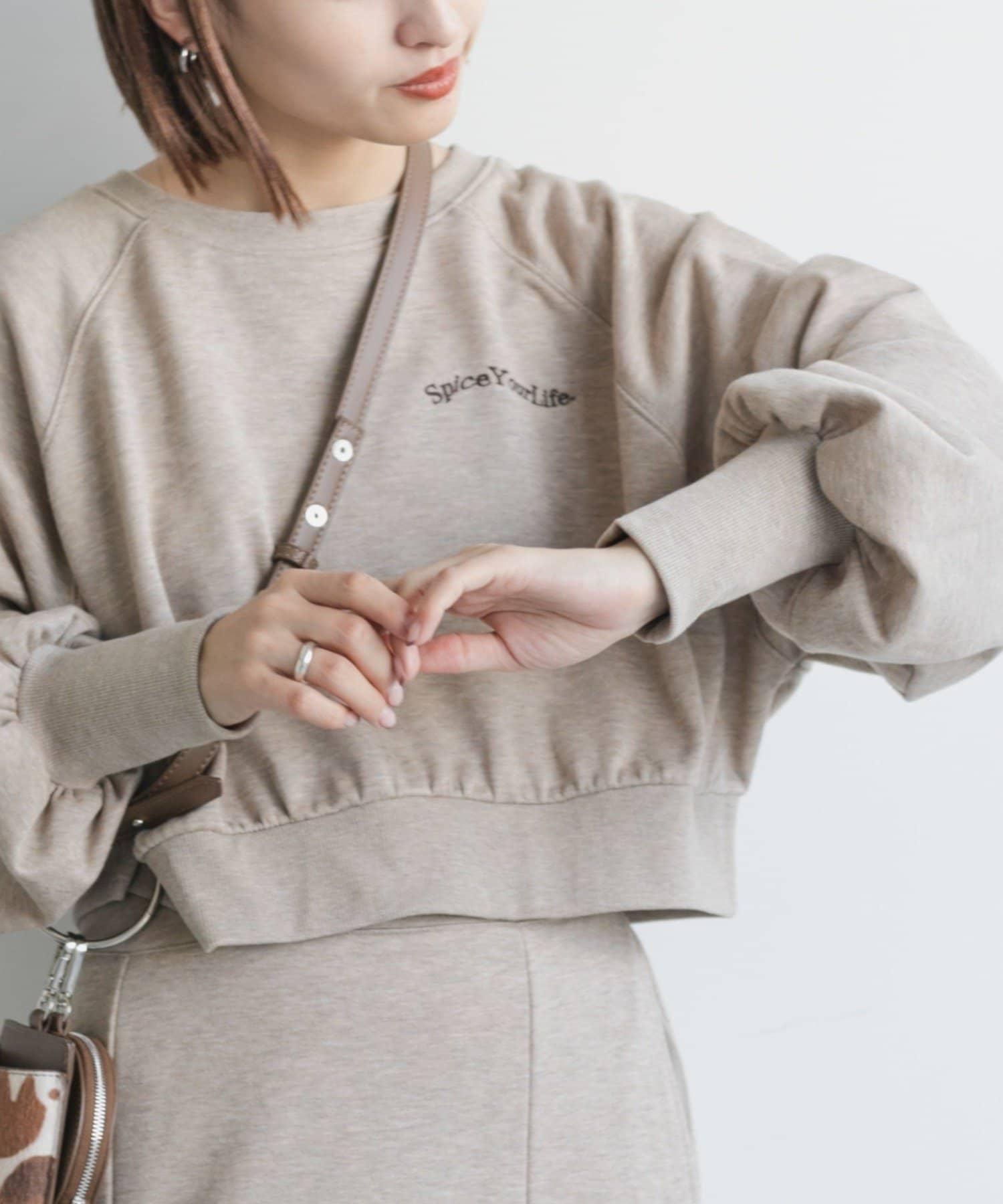 Kastane(カスタネ) 【SETUP対応】カラーMIXロゴスウェット