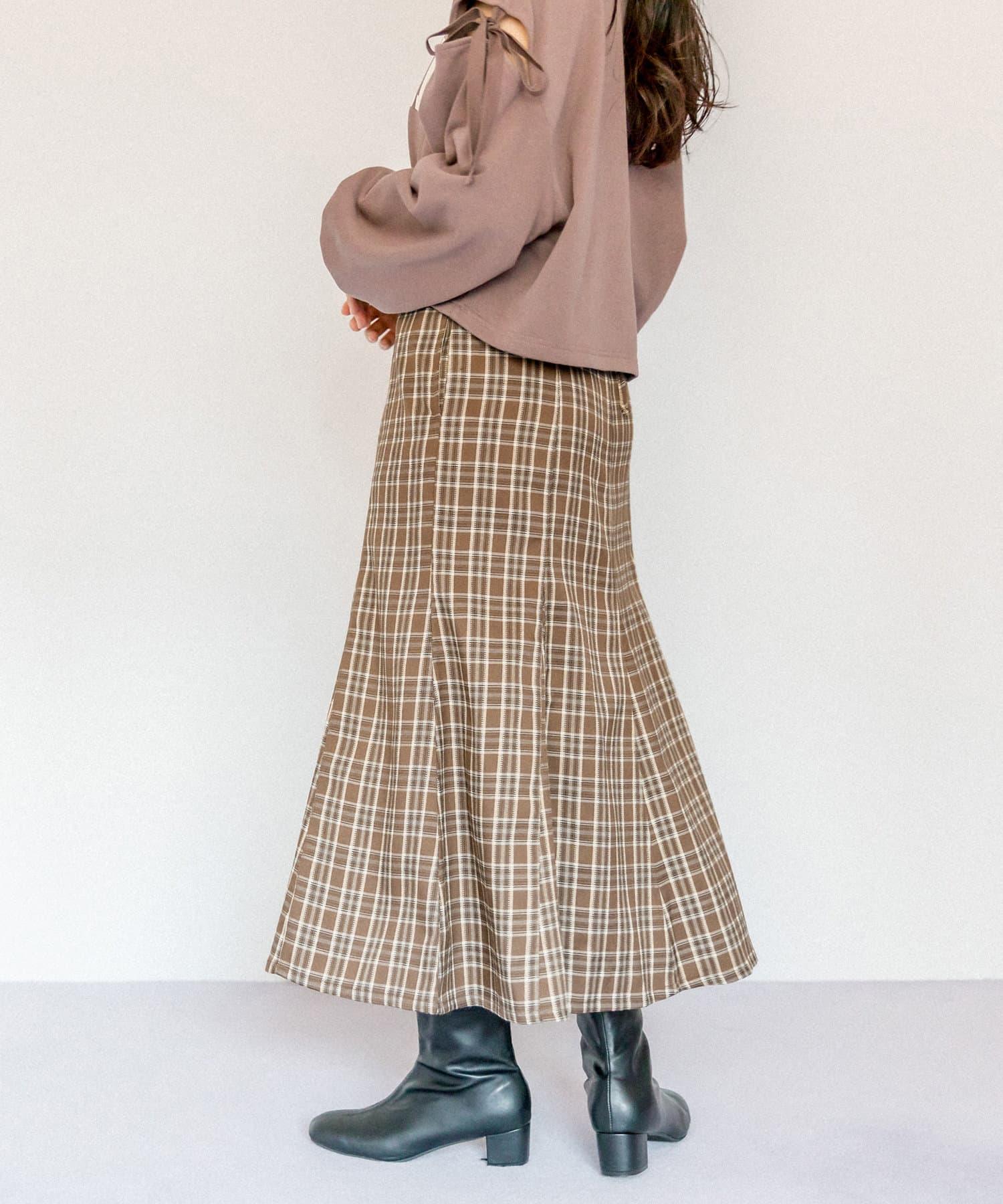 OLIVE des OLIVE(オリーブ デ オリーブ) バックレースアップマーメイドスカート