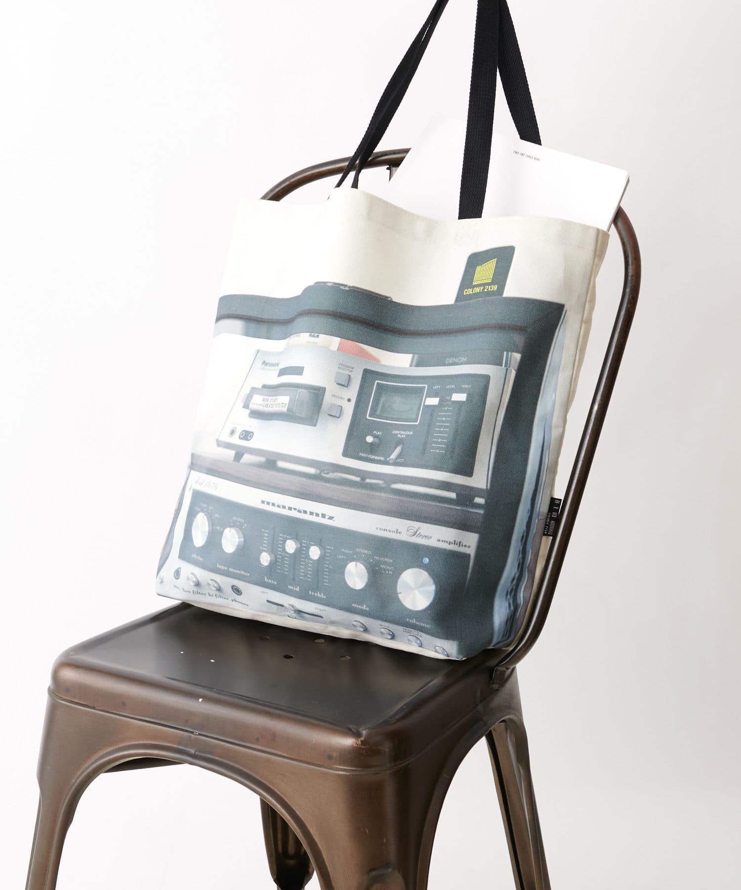 COLONY 2139(コロニー トゥーワンスリーナイン) メッセージトートバッグ/マチ付きA4収納可能トート