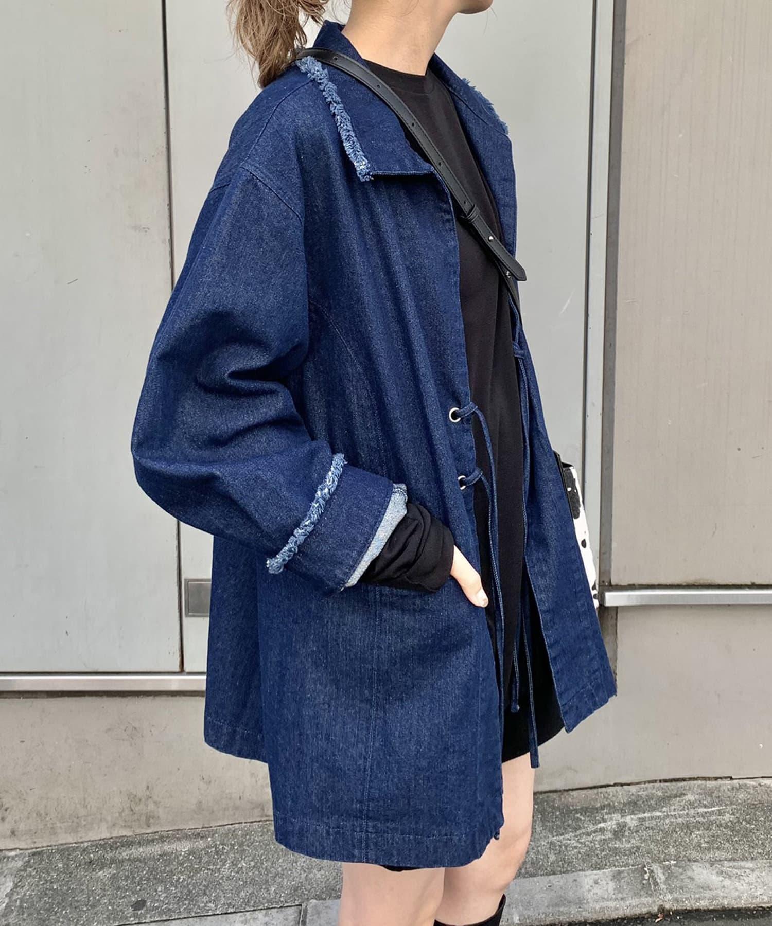Kastane(カスタネ) 【WEB限定】デニム紐付きオーバージャケット