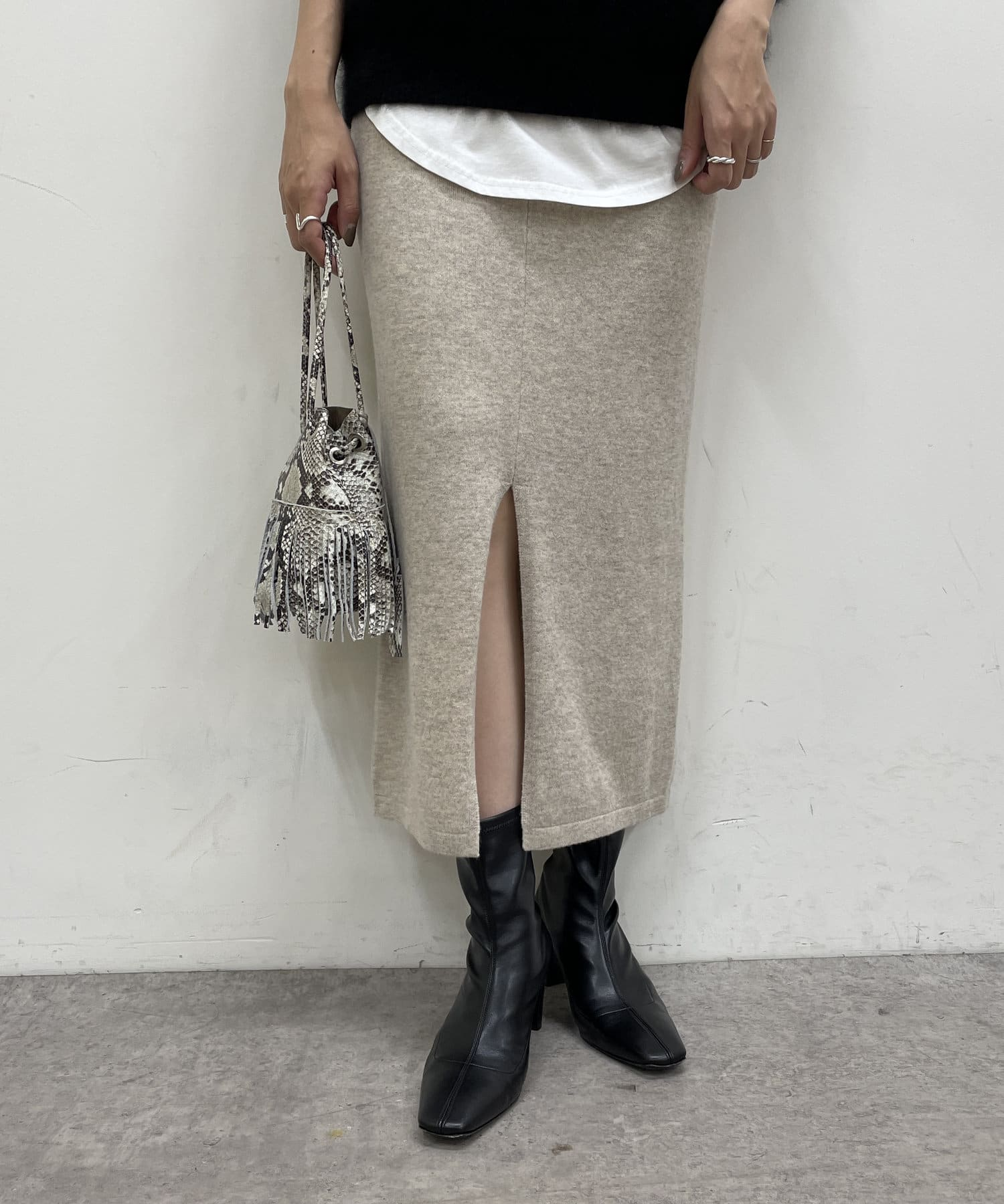 Loungedress(ラウンジドレス) 2way天竺ニットタイトスカート
