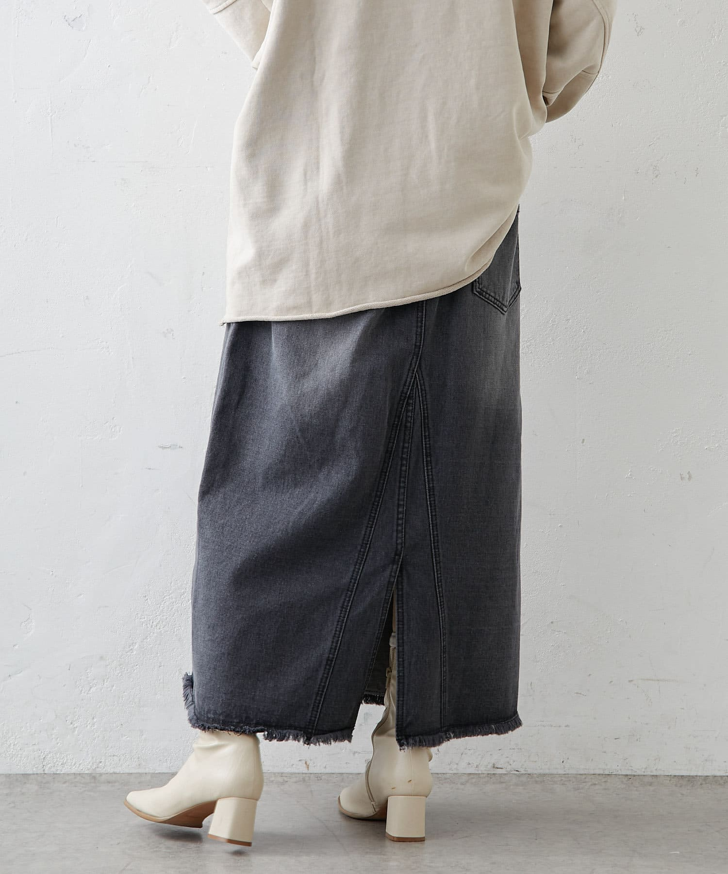 pual ce cin(ピュアルセシン) 【WEB限定】デニムマーメイドフレアスカート