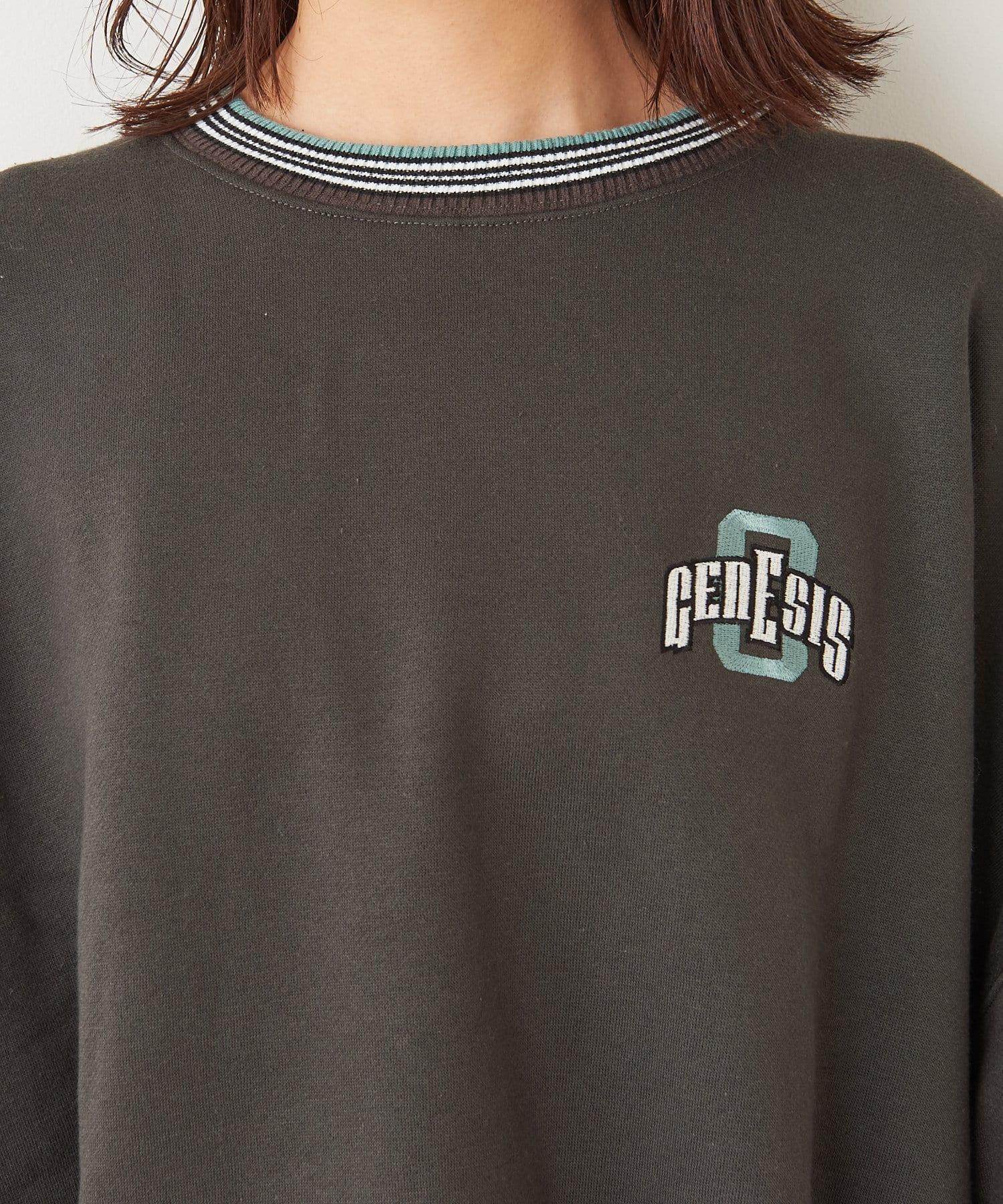 NICE CLAUP OUTLET(ナイスクラップ アウトレット) ロゴ刺繍ラインリブボリューム袖PO