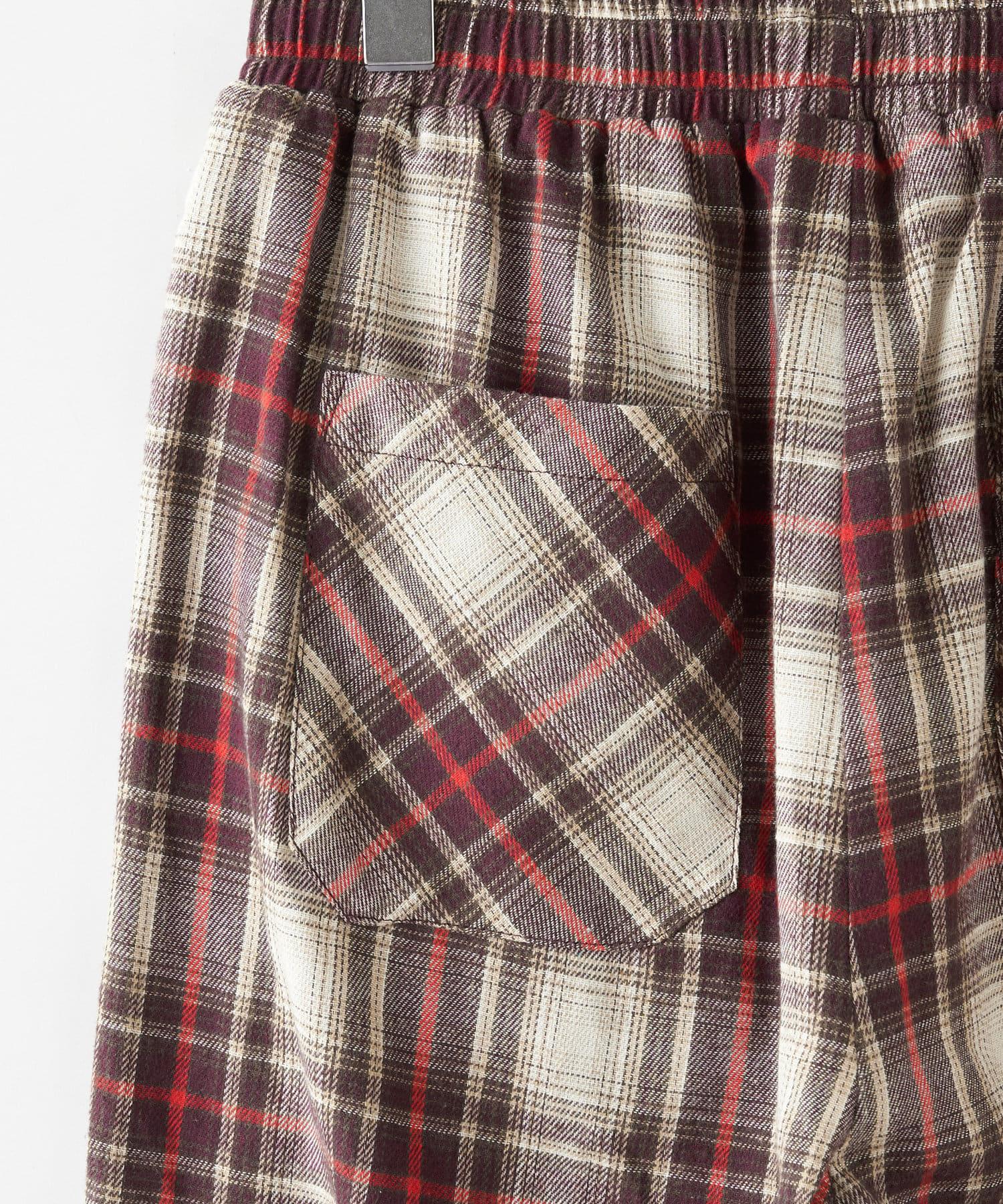 OLIVE des OLIVE OUTLET(オリーブ・デ・オリーブ アウトレット) 【dsf】plaid loose pants