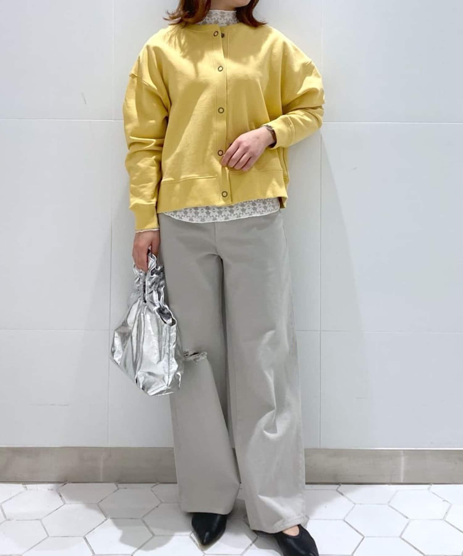 un dix cors(アンディコール) 《予約》【美シルエットのカジュアルパンツ】ダメージセミワイドカツラギパンツ