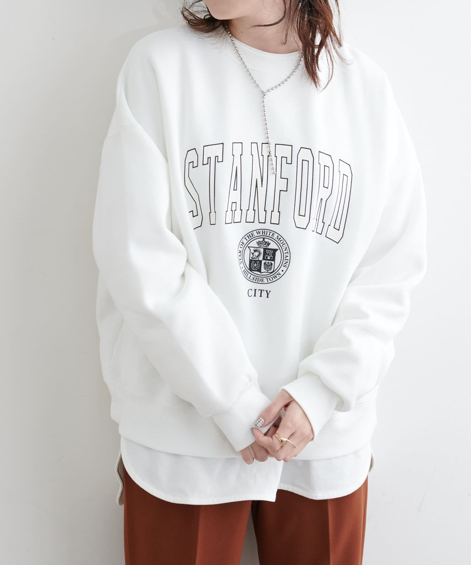 NICE CLAUP OUTLET(ナイスクラップ アウトレット) カレッジロゴptルーズPO