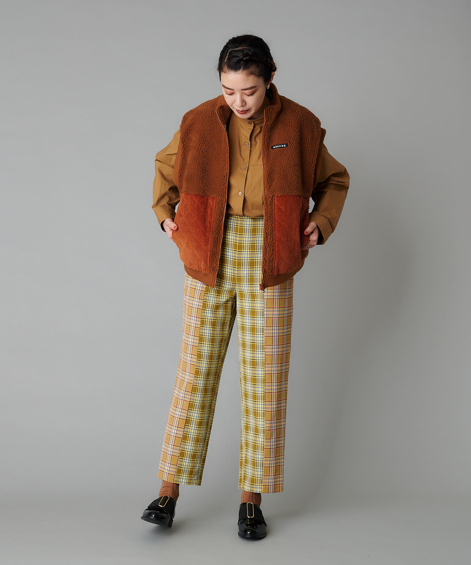 ear PAPILLONNER(イア パピヨネ) 【resume(レジュメ)】コンビチェックパンツ