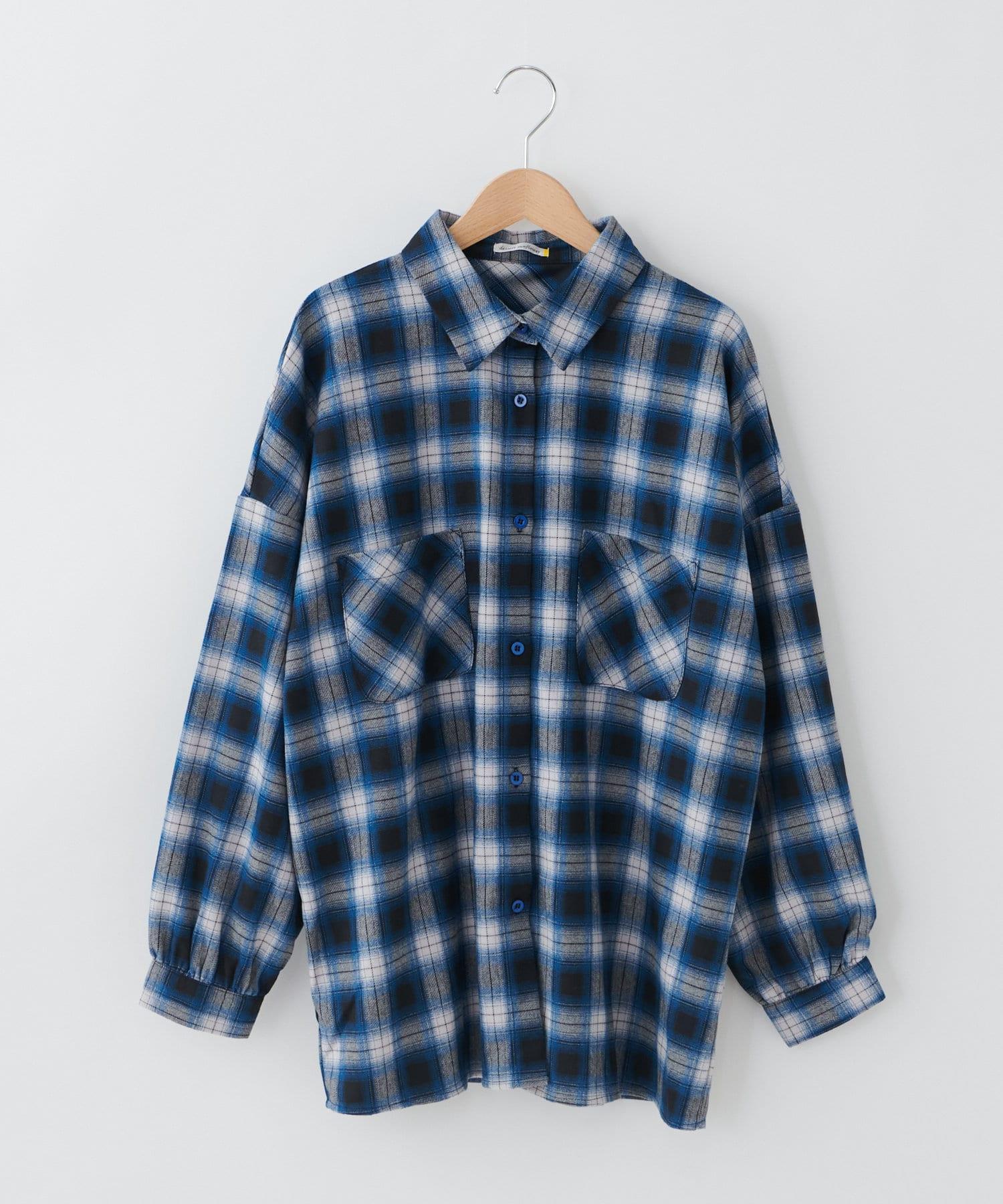 OLIVE des OLIVE OUTLET(オリーブ・デ・オリーブ アウトレット) 【dsf】Plaid big shirt