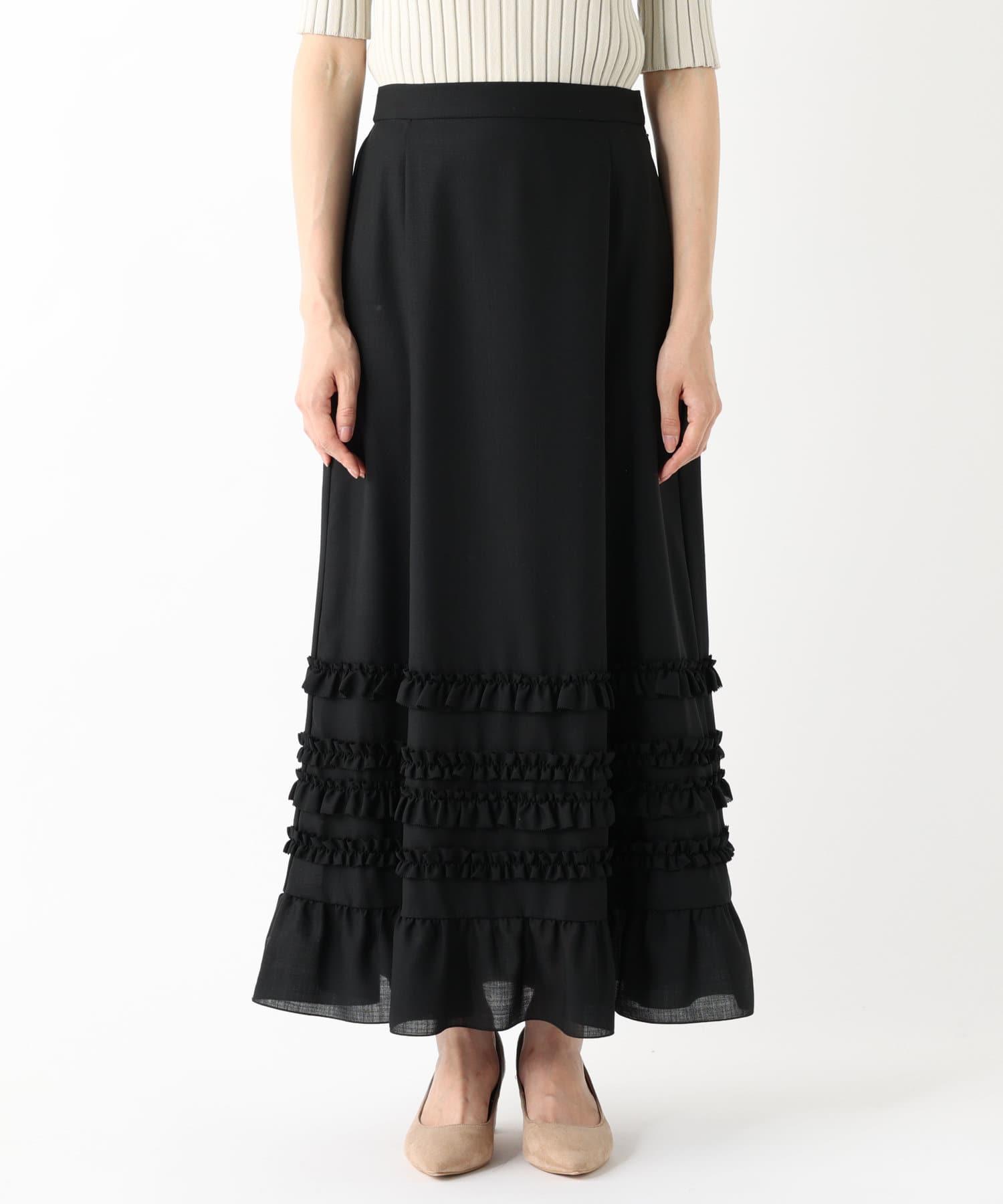 La boutique BonBon(ラブティックボンボン) 《予約》【セットアップ可・大人ガーリー・手洗い可】フリルティアードマキシスカート