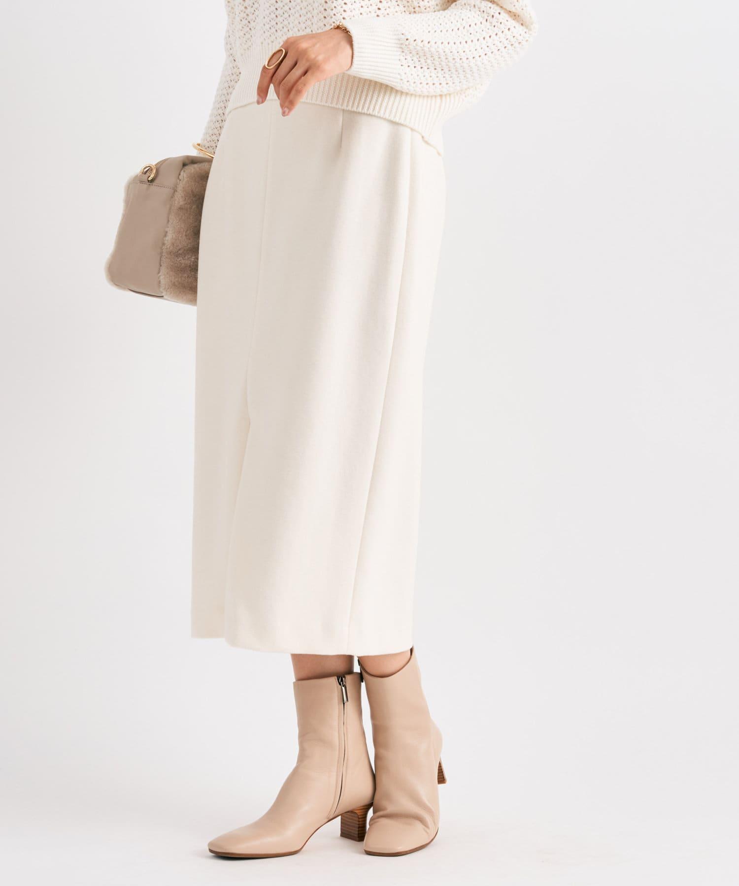 La boutique BonBon(ラブティックボンボン) 《予約》【セットアップ可・ラクにきれい見え】ウォッシャブルジャージナロースカート