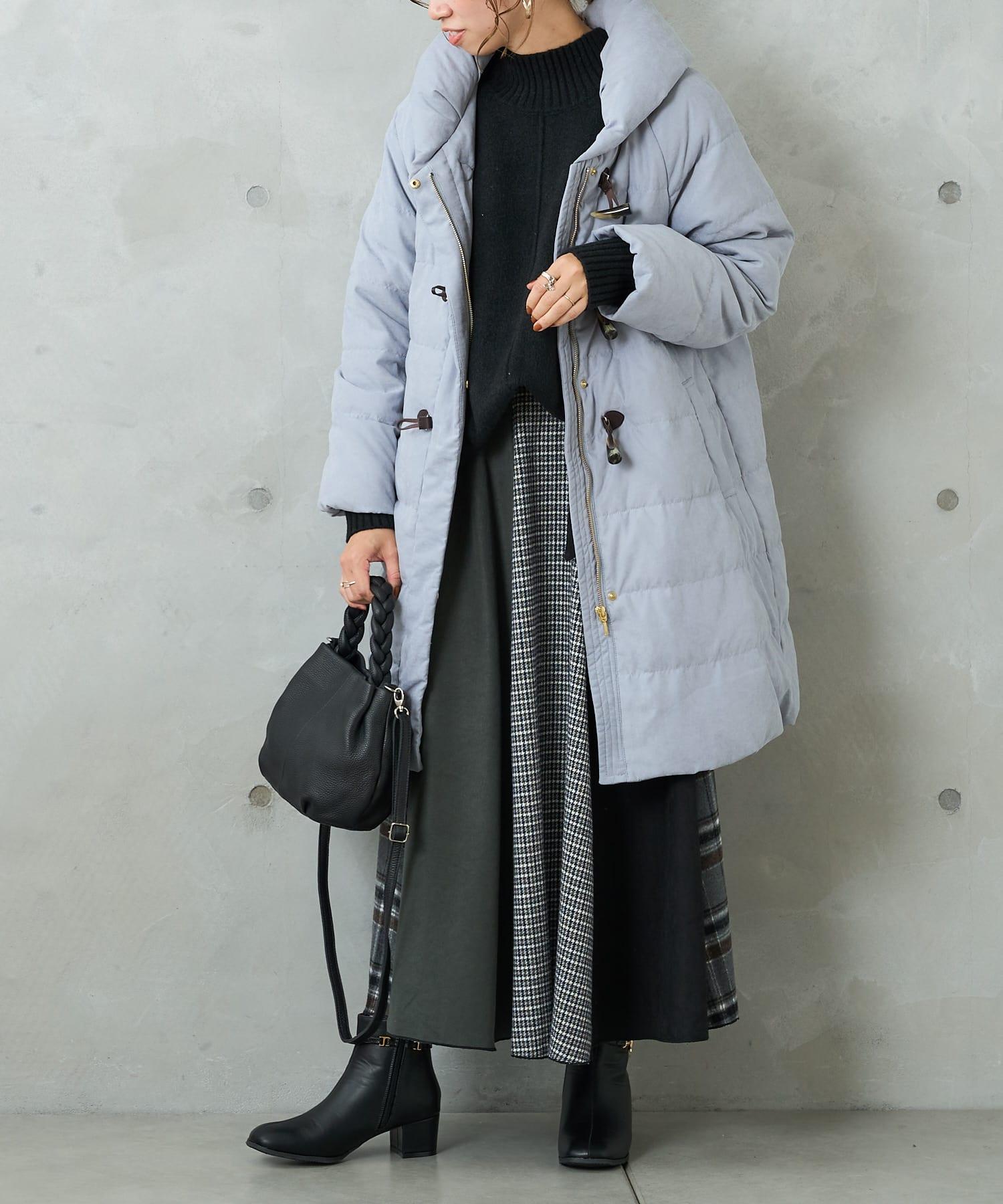 Pal collection(パルコレクション) 【予約】《腰まで暖かい》トグル付ロングダウンコート