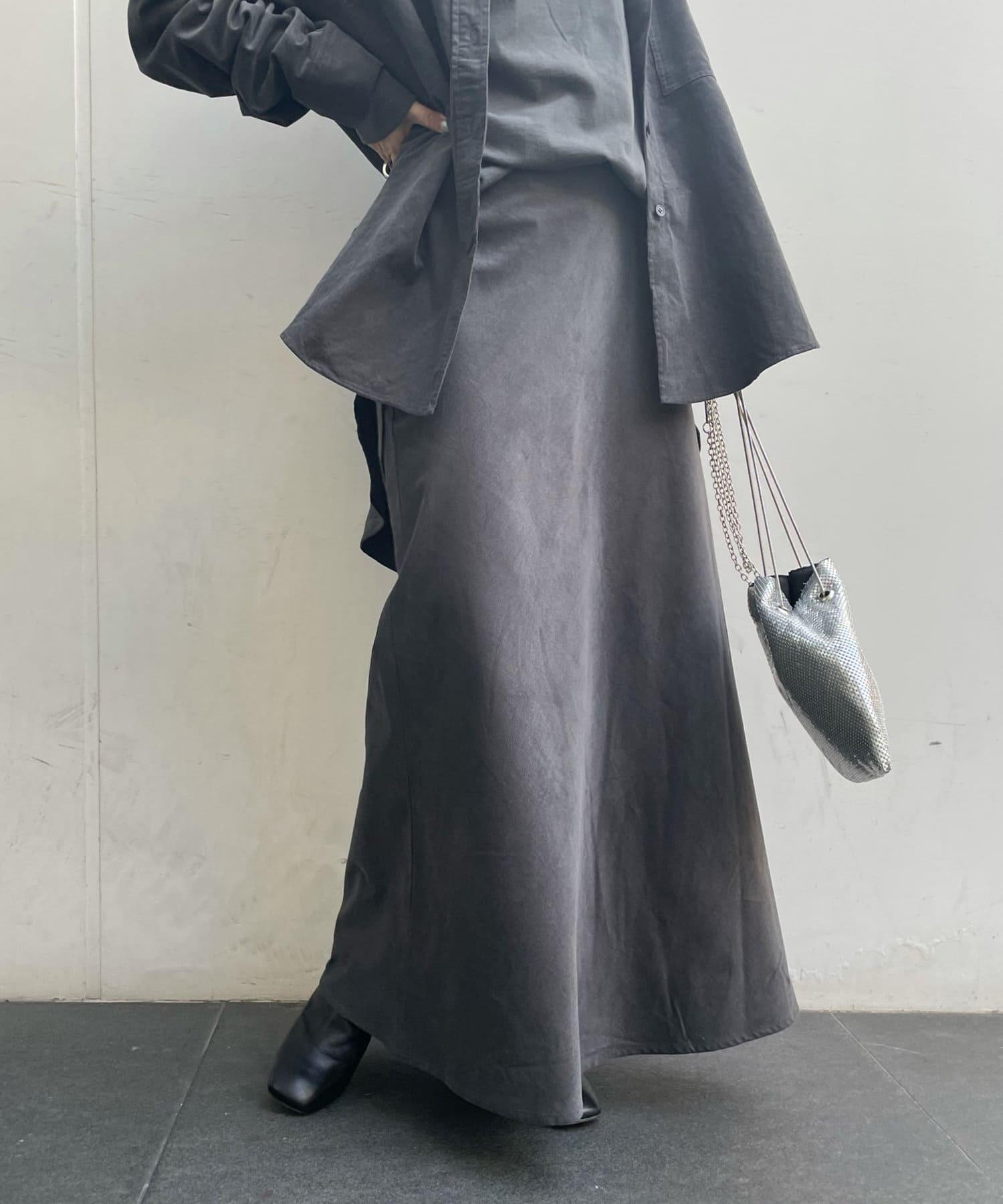 OUTLET(アウトレット) 【DouDou】セットアップコールテンスカート