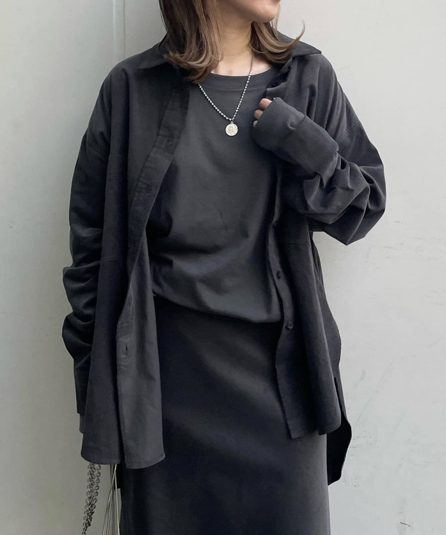OUTLET(アウトレット) 【DouDou】セットアップコールテンシャツ